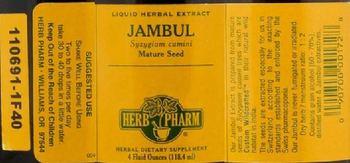 Herb Pharm Jambul - herbal supplement