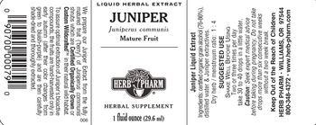 Herb Pharm Juniper - herbal supplement