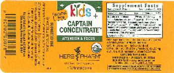 Herb Pharm Kids Captain Concentrate - herbal supplement