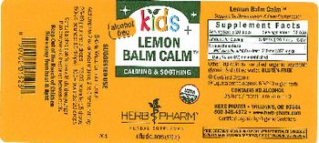 Herb Pharm Kids Lemon Balm Calm - herbal supplement