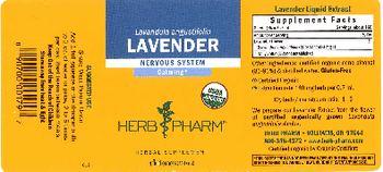 Herb Pharm Lavender - herbal supplement
