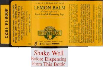 Herb Pharm Lemon Balm - herbal supplement