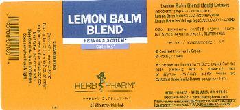 Herb Pharm Lemon Balm Blend - herbal supplement