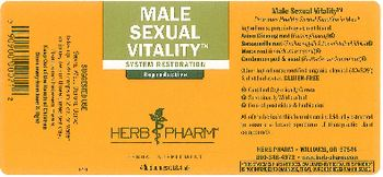 Herb Pharm Male Sexual Vitality - herbal supplement