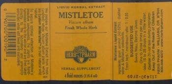 Herb Pharm Mistletoe - herbal supplement