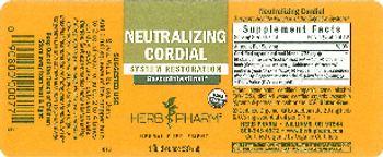 Herb Pharm Neutralizing Cordial - herbal supplement