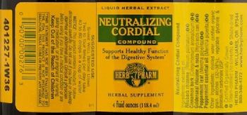 Herb Pharm Neutralizing Cordial Compound - herbal supplement