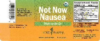 Herb Pharm Not Now Nausea - herbal supplement