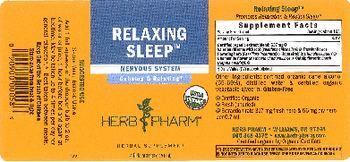 Herb Pharm Relaxing Sleep - herbal supplement