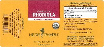 Herb Pharm Rhodiola - herbal supplement