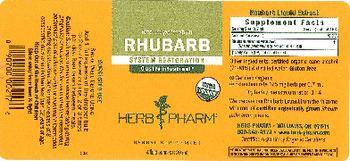 Herb Pharm Rhubarb - herbal supplement