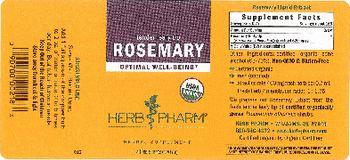 Herb Pharm Rosemary - herbal supplement