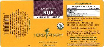 Herb Pharm Rue - herbal supplement
