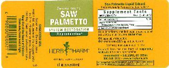 Herb Pharm Saw Palmetto - herbal supplement