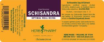 Herb Pharm Schisandra - herbal supplement