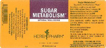 Herb Pharm Sugar Metabolism - herbal supplement