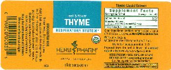 Herb Pharm Thyme - herbal supplement