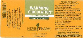 Herb Pharm Warming Circulation - herbal supplement