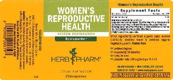 Herb Pharm Women's Reproductive Health - herbal supplement