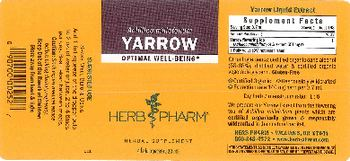 Herb Pharm Yarrow - herbal supplement
