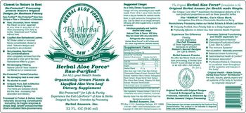 Herbal Answers, Inc. Herbal Aloe Force - supplement