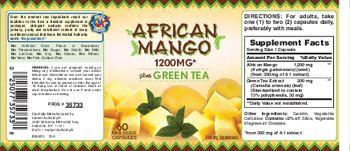 Herbal Authority African Mango 1200mg Plus Green Tea - supplement
