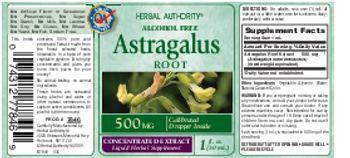 Herbal Authority Astragalus Root 500 mg - liquid herbal supplement