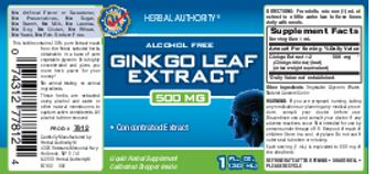 Herbal Authority Ginkgo Leaf Extract 500 mg - liquid herbal supplement