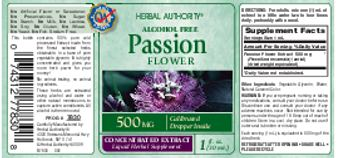 Herbal Authority Passion Flower - liquid herbal supplement