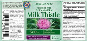 Herbal Authority Silymarin Milk Thistle - liquid herbal supplement