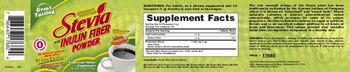 Herbal Authority Stevia With Inulin Fiber Powder - vegetarian herbal supplement