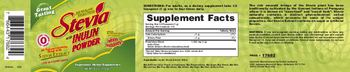 Herbal Authority Stevia With Inulin Powder - vegetarian herbal supplement
