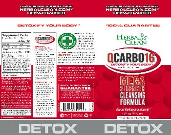 Herbal Clean QCarbo16 Tropical Flavor - herbal supplement