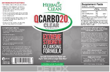 Herbal Clean QCarbo20 Clear Lemon-Lime Flavor - herbal supplement