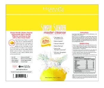 Herbal Clean Simply Slender Master Cleanse - supplement