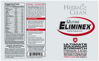 Herbal Clean Ultra Eliminex Tropical Flavor - herbal supplement