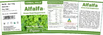 Herbal Hills Alfalfa - green food supplement
