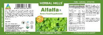 Herbal Hills Alfalfa Green Food Supplement - green food supplement