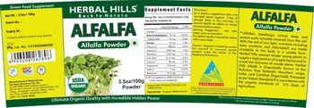 Herbal Hills Alfalfa Powder - green food supplement