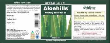 Herbal Hills Aloehills - herbal supplement
