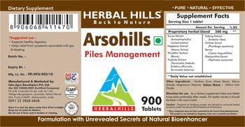 Herbal Hills Arsohills -