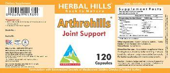 Herbal Hills Arthrohills - supplement