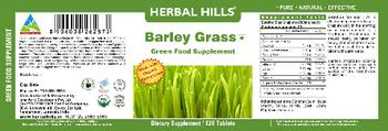 Herbal Hills Barley Grass Green Food Supplement - supplement