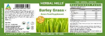 Herbal Hills Barley Grass Green Food Supplement - supplement
