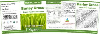 Herbal Hills Barley Grass - green food supplement