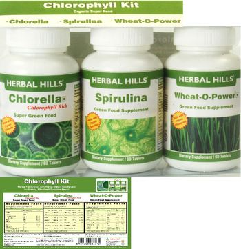 Herbal Hills Chlorophyll Kit Chlorella - supplement