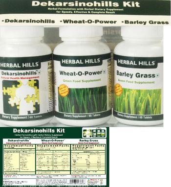 Herbal Hills Dekarsinohills Kit Barley Grass - supplement
