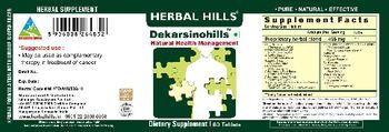 Herbal Hills Dekarsinohills - supplement