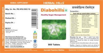 Herbal Hills Diabohills - supplement