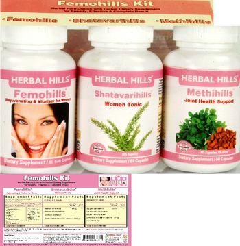 Herbal Hills Femohills Kit Shatavarihills - supplement